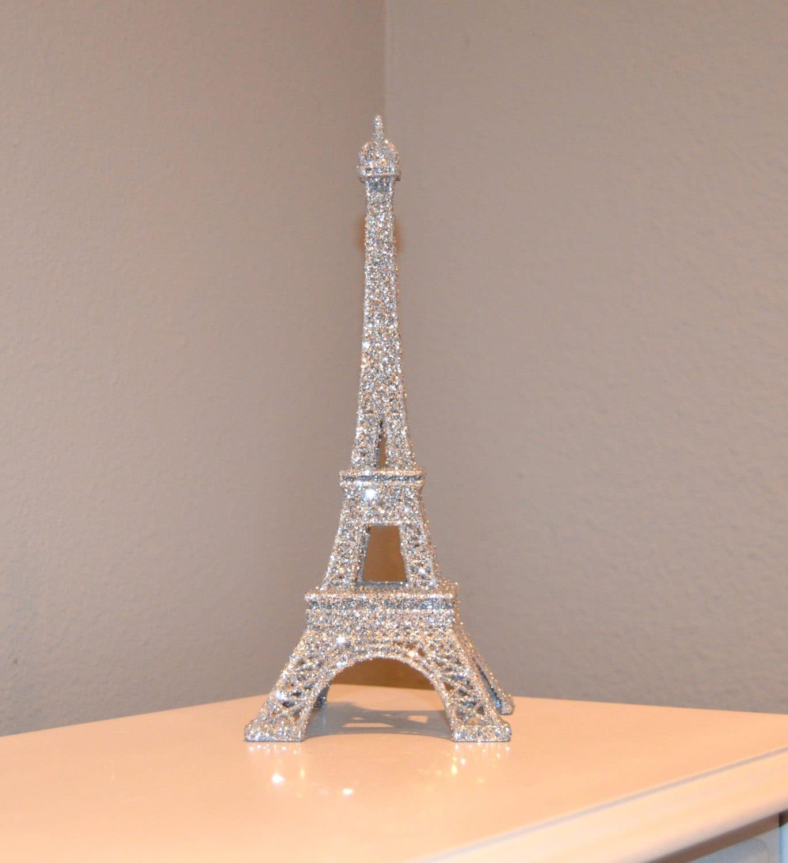 Paris Themed Wedding Reception Ideas: GLITTER EIFFEL TOWER. Parisians Theme Decor. Paris Wedding