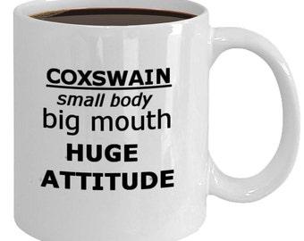 Things a Coxswain Says show his worth. This 11oz ceramic coffee mug is the perfect reward.