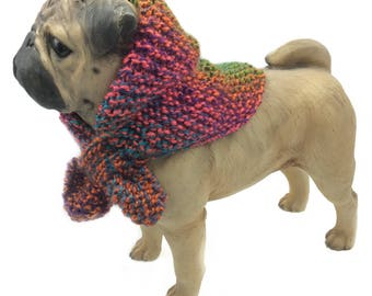 Red and green Dog scarf, puppy clothes, dog accessories dog scarves dog neck warmer knitted dog clothes  dog bandana pet scarves pug clothes