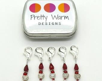 Stitch Markers Crochet - Crochet Tools - Stitch Holder - Locking Markers - Progress Keepers - Snag Free Stitch Markers - Stitchmarkers
