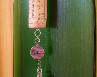 Peace Wine Cork Ornament, Wine Cork Ornament