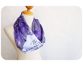 Harry Potter The Marauder's Map Scarf - Purple