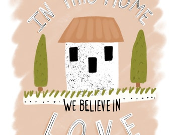 We believe in love Poster