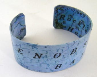"""Penobscot Bay Resin Cuff - 1""""- Gift Boxed"""