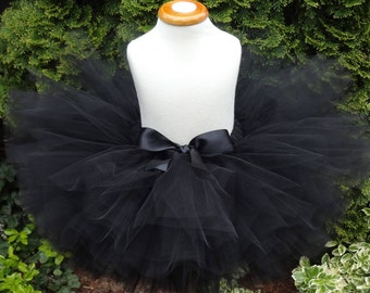Black Tutu, Sewn Tutu, Newborn Tutu, Black Cat Tutu, Birthday Tutu, Photoprop, Infant Tutu, Toddler Tutu, Baby Tutu, Tutu, Dance Tutu