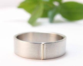 Modern Wedding Band Womens Wedding Band Mens Wedding Band Mens Wedding Ring Simple Wedding Band 14k White Gold Wedding Womens Wedding Ring