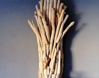 Driftwood candleholder,candelabra,driftwood sconce,beach decor,coastal ,nature,wood,nautical,cottage,lake,wall hanging,farmhouse,rustic