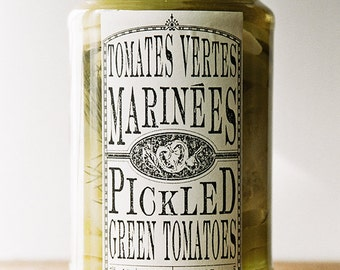Pickled Green Tomatoes - 750mL
