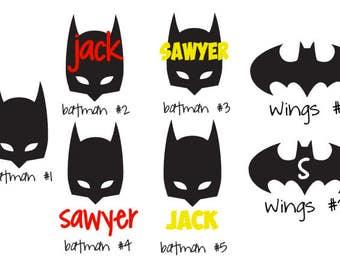 Personalized Batman superhero decal