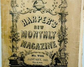 Harper's New Monthly Magazine January, 1851 Rare!