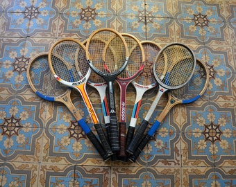 Vintage wooden tennis racquets DONNAY, Dunlop, Adidas / tennis House rackets