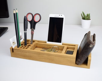desk organizer gift desk pen holder phone holder office
