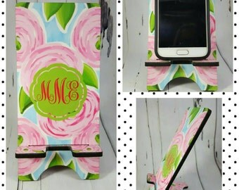 Monogram Phone Stand, Cell Phone Charging Stand, Great Gift Ideas, Sorority Gift Idea