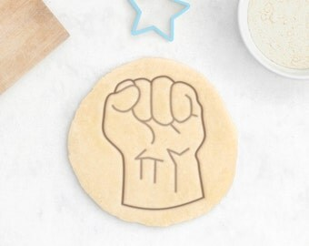 Fist Cookie Cutter - Geek Cookie Cutter Power Cookie Cutter Nerd Human Body Anatomy Cookie Cutter - 3D Printed
