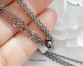 2 Meters, Black Cable Chain 235SF, Gunmetal Finished Brass Chain, Basic Fashion Jewelry Chain, Quality Chain