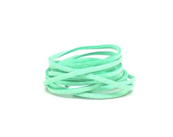 10 m 3mm Green Pastel suede