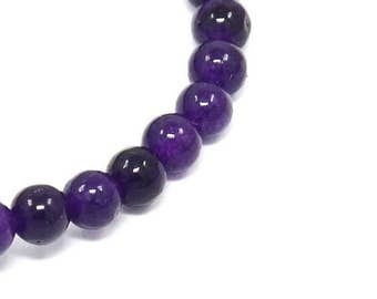 48 natural pearls of amethyst 8 mm