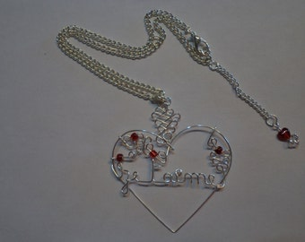 jewel heart or cat collar name or I love you adorned with pearls to the choice made hands
