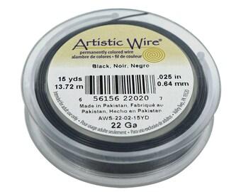 22 Gauge 15 Yards Black Artistic Wire Jewelry Design Making Sculpting Wire Spool - BDC-805.02
