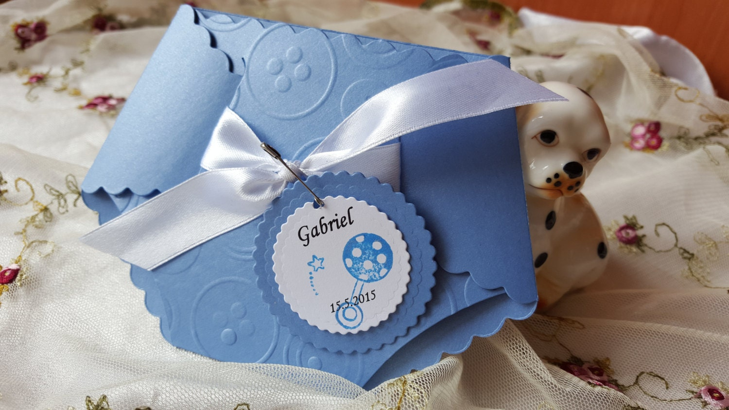 12 Baby Boy Girl Shower Diaper Invitation Embossed Cards New – Baby Announcement Favors
