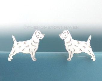 Cairn Terrier Earrings - Terrier dog studs, Cairn Terrier studs, yorkie