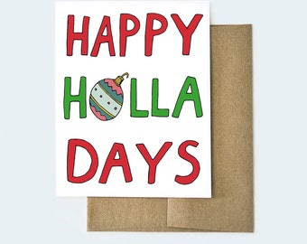 Happy Holidays Card | Funny Christmas Card | Holiday Card | Christmas Card | Funny Holiday Card