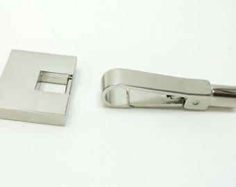 Argent/chrome métal fermoir de sac à main/sac/pushgate lock/décoration, matériel de sac à main