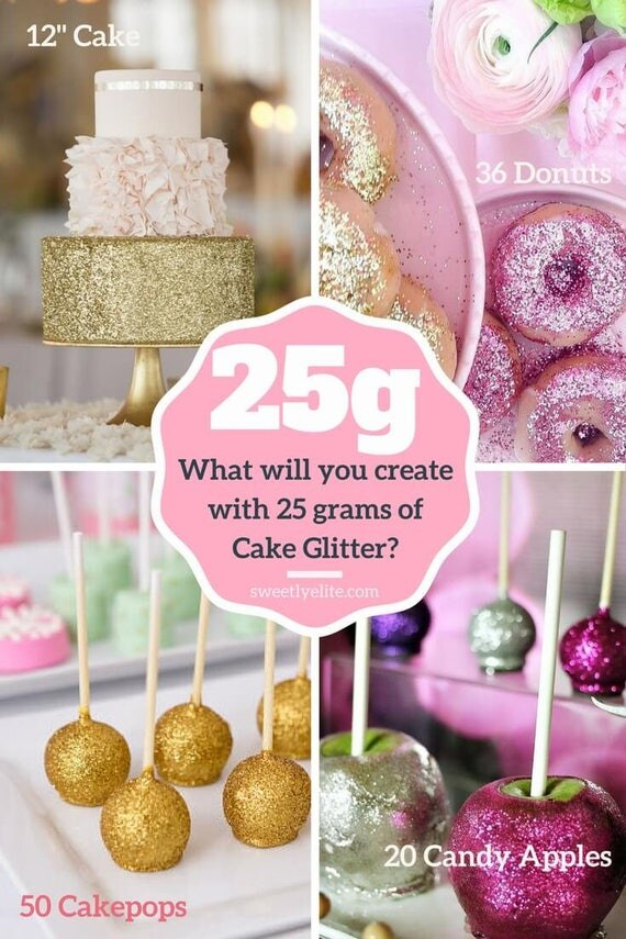 Decorating Cake Pops With Glitter : Royal Gold Cake Glitter for Decorating Cake Pops, Sparkle ...