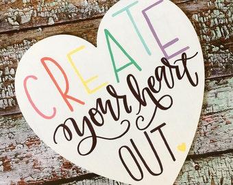 craft room sign, rainbow maker, create sign, office decor, girl boss sign, boss babe, boss lady, craft room decor, rainbow decor, creative