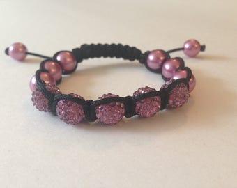 Crystal Friendship Bracelent - Dusty Pink