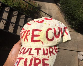 White bleached culture hat