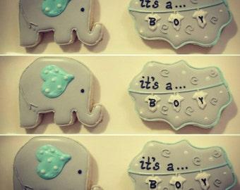 Assorted Baby Shower Sugar Cookies (Dozen)