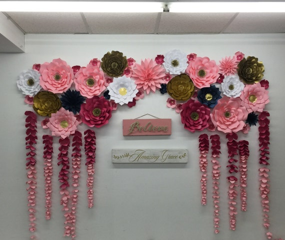 Large Paper Flowers Backdrop Wedding Arch Photo Booth Flower