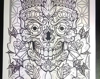 A3 double sided tattoo print