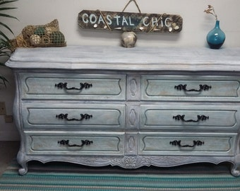 Sold -Dresser /  TV Stand / Buffet  ~ Shabby Coastal Chic