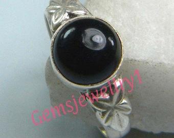 Black Onyx Ring, Black Stone Ring,Stone ring , silver ring, Silver overlay Ring, Black Onyx ring, Size 5 6 7 8 9 10 11 12  ring-0314140045