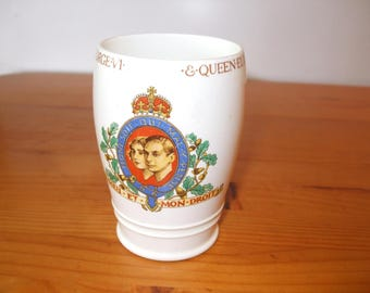 Mintons Commemorative beaker from the Coronation of King George VI and Queen Elizabeth in 1937