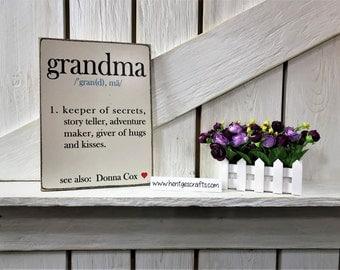 Grandma sign, gift, Definition of a grandma sign