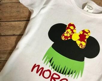 Disney Mickey/Minnie Mouse Luau Inspired Hawaiian T Shirt