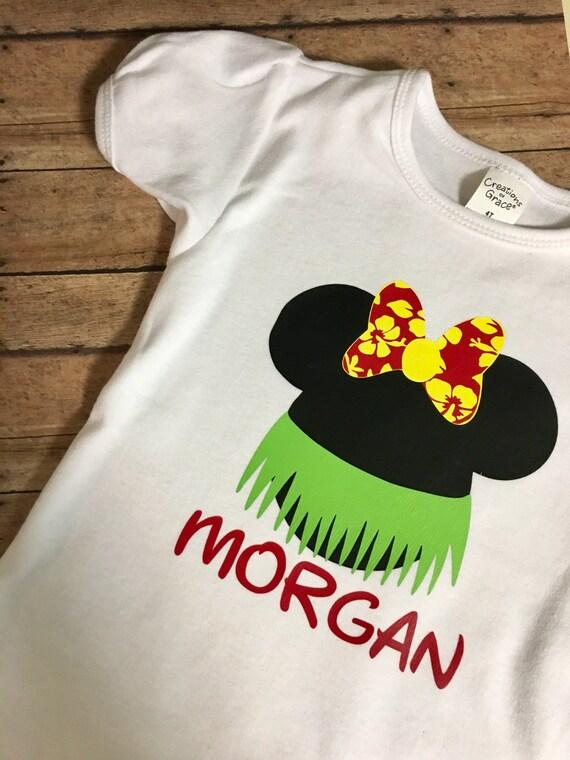 Disney Mickey Minnie Mouse Luau Inspired Hawaiian T Shirt