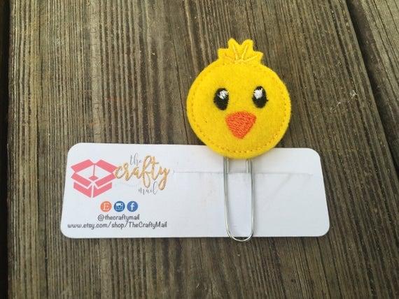 Chick Planner Clip/Planner Clip/Bookmark. Easter planner clip