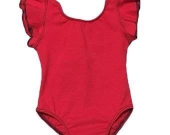 Red Leotard (baby leotard,toddler leotard,dance leotard,basic Leotard,red bodysuit,gymnastics leotard,birthday outfit,ballet leotard)