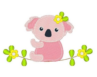 Koala Embroidery Design, Baby Koala, Australian Koala Machine Embroidery Design No: JG00069-4