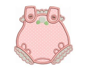 Baby Romper Suit Applique Embroidery Design, Baby Clothes, Baby Play Suit Machine Embroidery Design, Instant Download, No: SA531-5