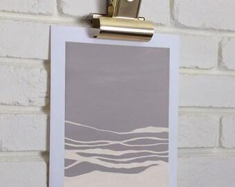 Organic Art Print in neutral colors, Minimalist artwork, Abstract print