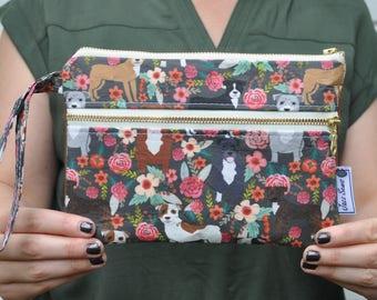Pitbull Floral Wristlet Wallet
