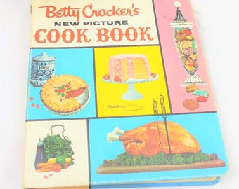 Betty Crocker's, New Picture Cook Book, Mid Century Cookbook, 1960s Betty Crocker