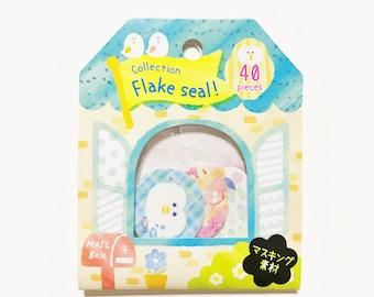 Washi Sticker Flakes - Pastel Animals (40 stickers)