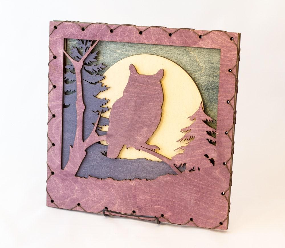 owl art owl wall decor raptor home decor owl lover gift