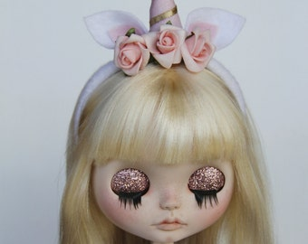 Unicorn Girl - Ooak Custom Blythe Doll